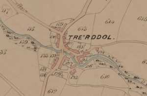 Tre\'r Ddôl on the Tithe map of 1844